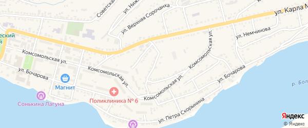 Садовый переулок на карте Сатки с номерами домов