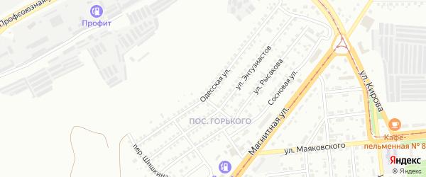Одесская улица на карте Магнитогорска с номерами домов