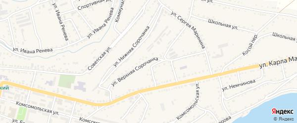 Улица Верхняя Сорочанка на карте Сатки с номерами домов