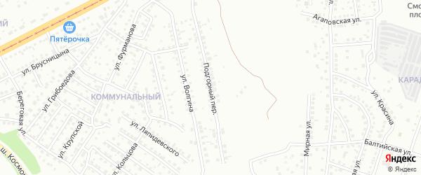 Подгорный переулок на карте Магнитогорска с номерами домов