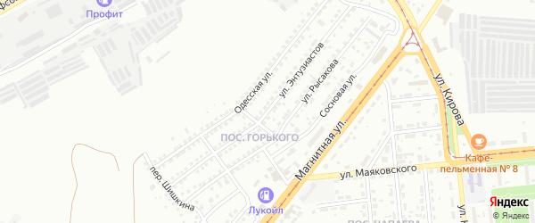 Улица Энтузиастов на карте Магнитогорска с номерами домов