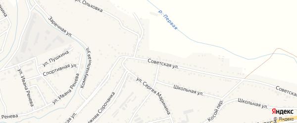 Советская улица на карте Сатки с номерами домов