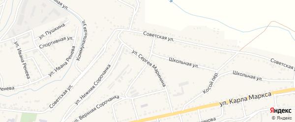 Улица Сергея Маринина на карте Сатки с номерами домов