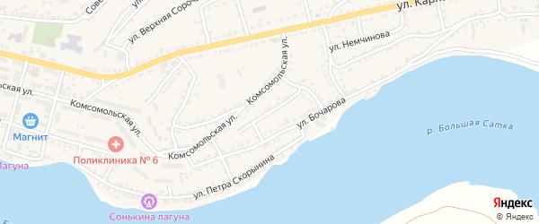 Улица Чайковского на карте Сатки с номерами домов