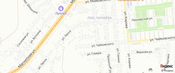 Переулок Протасова на карте Магнитогорска с номерами домов