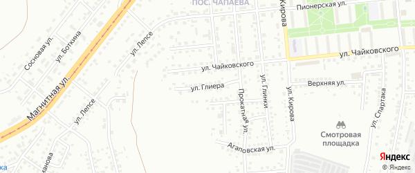 Улица Глиера на карте Магнитогорска с номерами домов