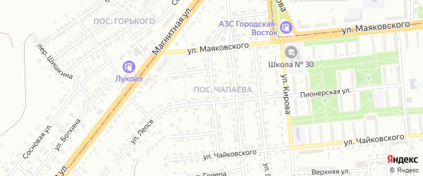 Улица Сергея Лазо на карте Магнитогорска с номерами домов