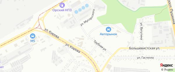 Трубная улица на карте Магнитогорска с номерами домов