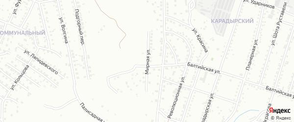 Мирная улица на карте Магнитогорска с номерами домов