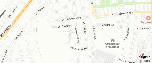 Улица Даргомыжского на карте Магнитогорска с номерами домов