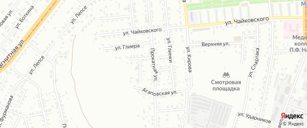 Прокатная улица на карте Магнитогорска с номерами домов