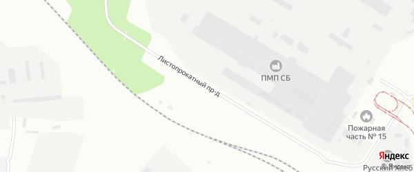 Листопрокатный проезд на карте Магнитогорска с номерами домов