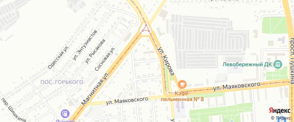 Доменный переулок на карте Магнитогорска с номерами домов
