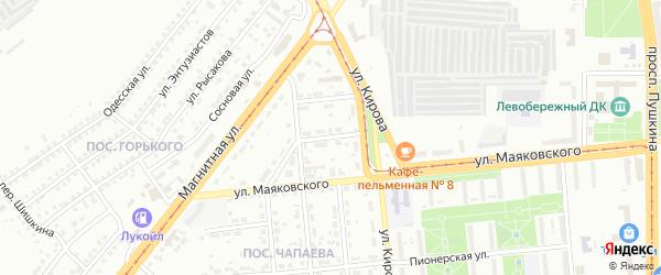 Физкультурный переулок на карте Магнитогорска с номерами домов