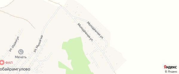 Молодежная улица на карте деревни Новобайрамгулово с номерами домов