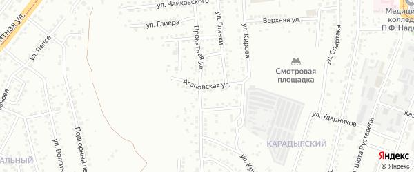 Агаповская улица на карте Магнитогорска с номерами домов