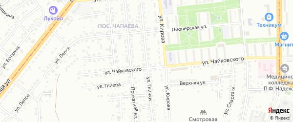 Улица Глинки на карте Магнитогорска с номерами домов