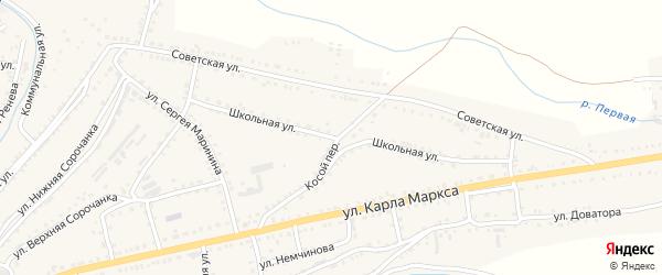 Школьная улица на карте Сатки с номерами домов