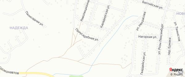 Приусадебная улица на карте Магнитогорска с номерами домов
