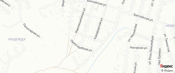 Улица Вересаева на карте Магнитогорска с номерами домов