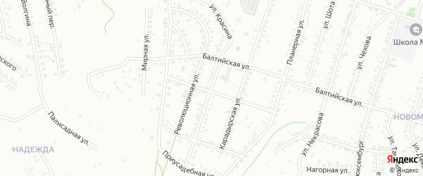 Улица Красина на карте Магнитогорска с номерами домов