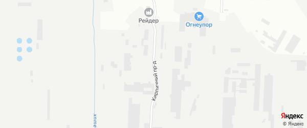 Кирпичный проезд на карте Магнитогорска с номерами домов