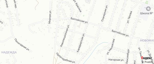 Новокарадырская улица на карте Магнитогорска с номерами домов