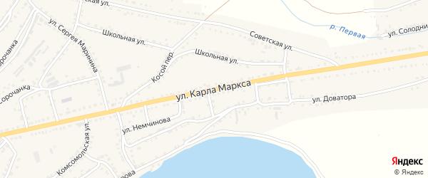 Улица Карла Маркса на карте Сатки с номерами домов