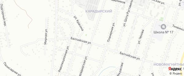 Карадырская улица на карте Магнитогорска с номерами домов