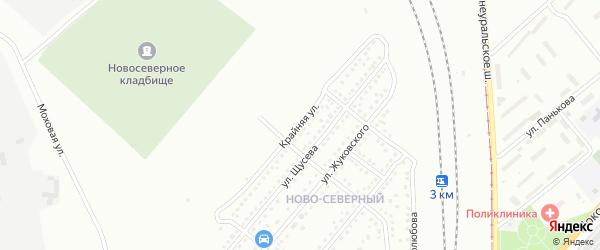 Крайняя улица на карте Магнитогорска с номерами домов