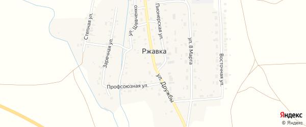 Улица Дружбы на карте поселка Ржавки с номерами домов