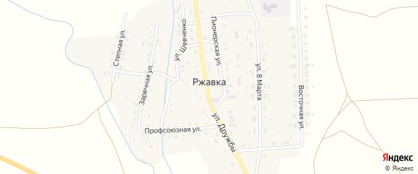 Пионерская улица на карте поселка Ржавки с номерами домов