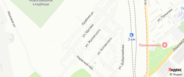 Улица Щусева на карте Магнитогорска с номерами домов