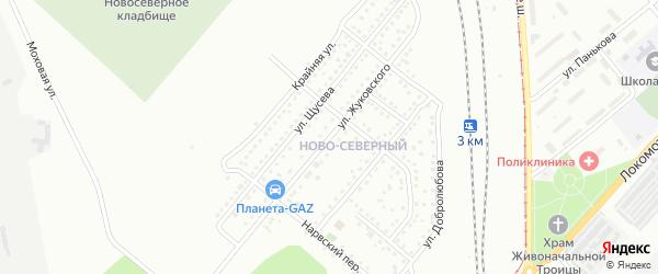 Улица Жуковского на карте Магнитогорска с номерами домов