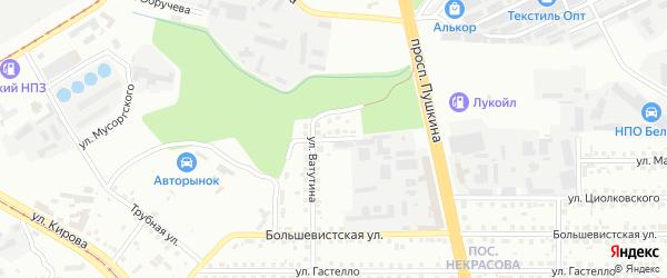 Переулок Некрасова на карте Магнитогорска с номерами домов