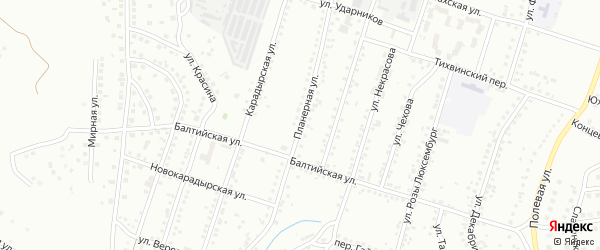 Планерная улица на карте Магнитогорска с номерами домов