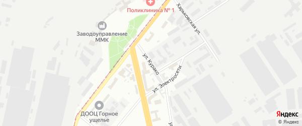 Улица Курако на карте Магнитогорска с номерами домов