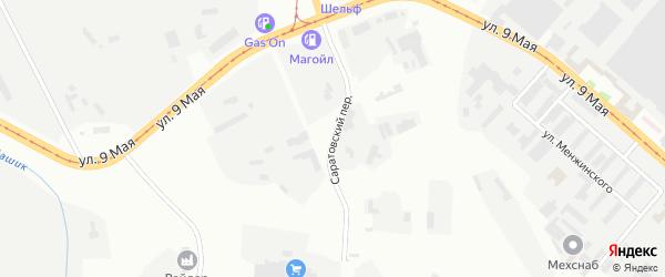 Саратовский переулок на карте Магнитогорска с номерами домов