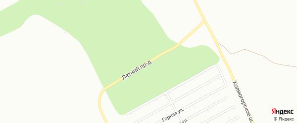 Летний проезд на карте Магнитогорска с номерами домов