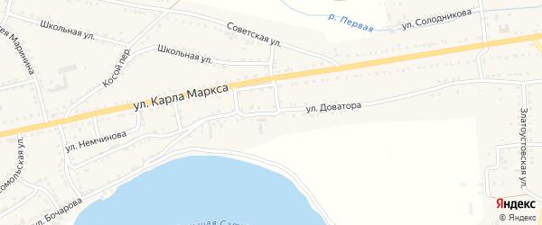 Улица Доватора на карте Сатки с номерами домов