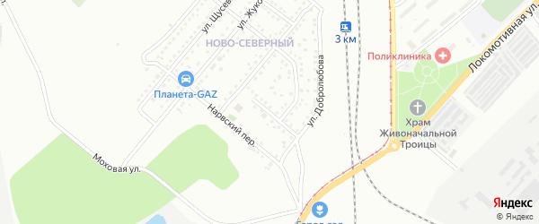 Переулок Мицкевича на карте Магнитогорска с номерами домов
