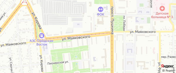 Улица Маяковского на карте Магнитогорска с номерами домов