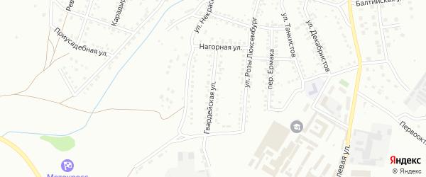 Гвардейская улица на карте Магнитогорска с номерами домов