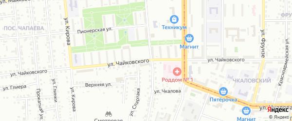 Улица Чайковского на карте Магнитогорска с номерами домов