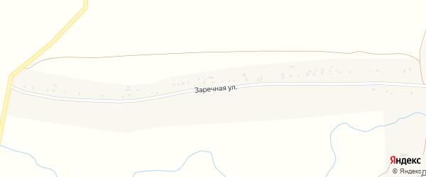 Заречная улица на карте Степного села с номерами домов