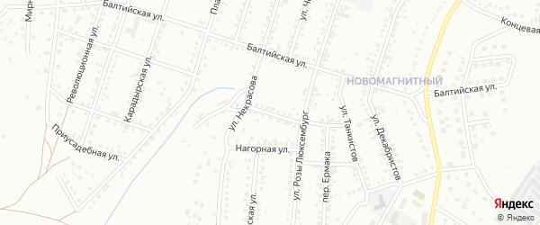 Переулок Гайдара на карте Магнитогорска с номерами домов