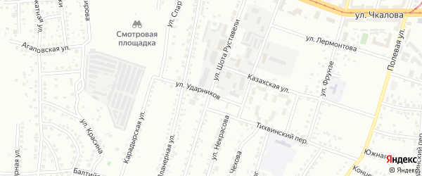 Улица Шота Руставели на карте Магнитогорска с номерами домов