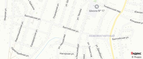 Балтийская улица на карте Магнитогорска с номерами домов