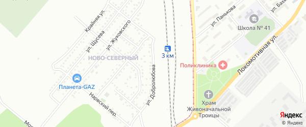 Улица Добролюбова на карте Магнитогорска с номерами домов