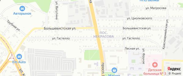 Улица Гастелло на карте Магнитогорска с номерами домов